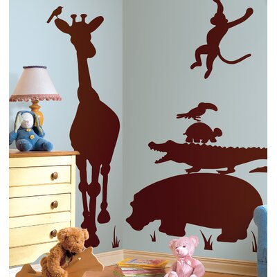 Room Mates Megapacks Animal Silhouettes Peel in Brown and Stick Giant Wall Decal