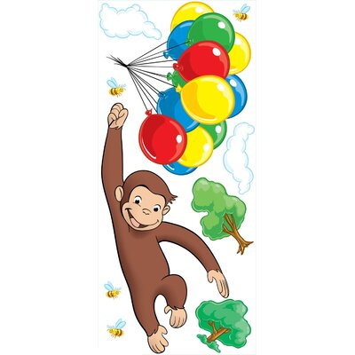 Room Mates Licensed Designs Curious George Peel and Stick Giant Wall Decal