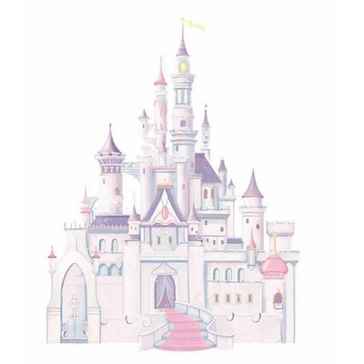 Room Mates Licensed Designs Disney Princess Castle Peel and Stick Giant Wall Decal