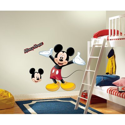 Room Mates Licensed Designs Mickey Mouse Peel and Stick Giant Wall Decal