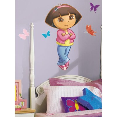 Room Mates Nickelodeon Dora the Explorer Peel and Stick Giant Wall Decal