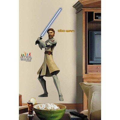 Room Mates Licensed Designs Star Wars Obi-Wan Peel and Stick Giant Wall Decal