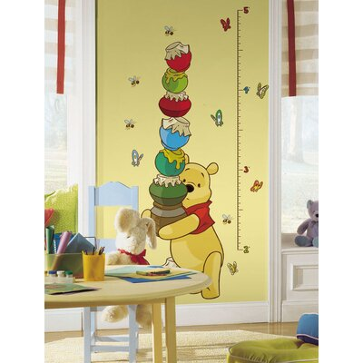 Room Mates Licensed Designs Pooh Peel and Stick Growth Chart