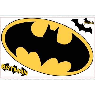 Room Mates Licensed Designs Batman Giant Peel and Stick Logo