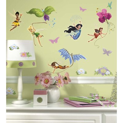 Room Mates Licensed Designs Disney Fairies Peel and Stick Wall Decal Us Only