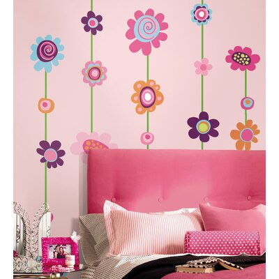 Room Mates Flower Stripe Wall Decal