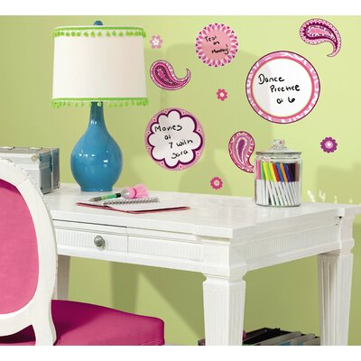 Room Mates Paisley Dry Erase Wall Decal