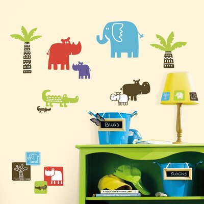 Room Mates Safari Blocks Wall Decal