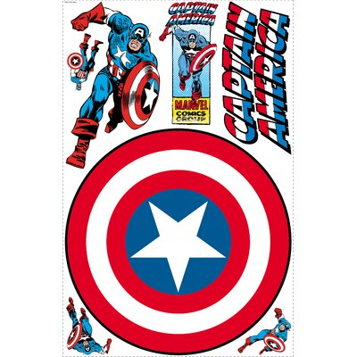 Captain America Vintage Shield Wall Decal