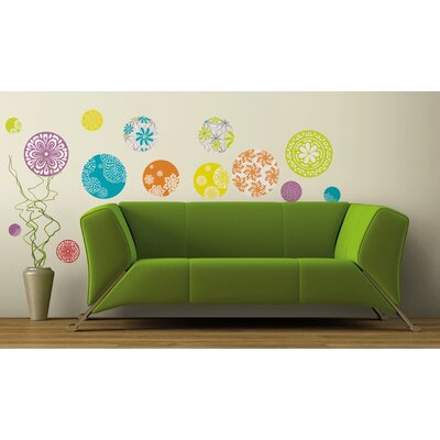 Room Mates 20-Piece Patterned Dots Wall Decal
