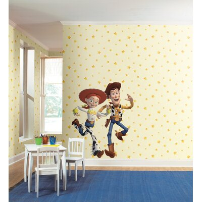 Room Mates Toy Story Stars Wallpaper in Cream