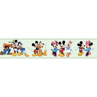 Room Mates Mickey and Friends Border in Green
