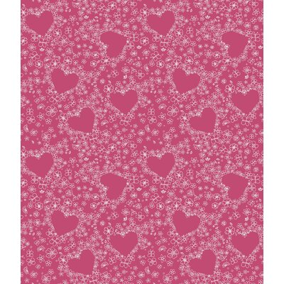 Room Mates Hearts Wallpaper in Pink