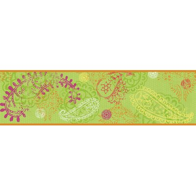 Paisley Border in Lime