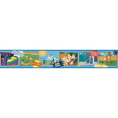 Room Mates Phineus and Ferb Border in Blue