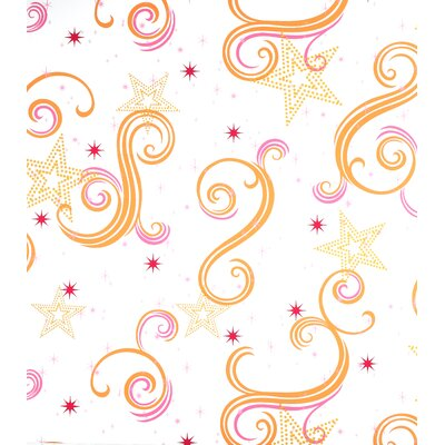 Room Mates Star Glitter Wallpaper in Orange