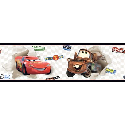 Room Mates Cars Lightning McQueen and Mater Border