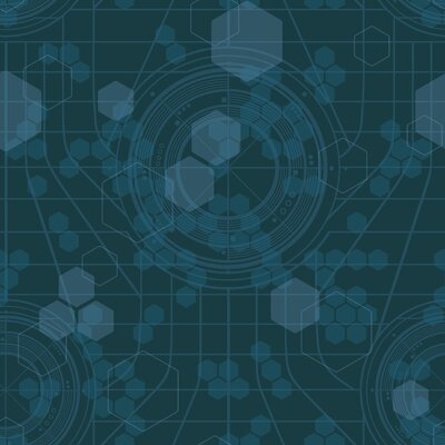 Room Mates Tron Legacy Hexagon Wallpaper in Dark Teal