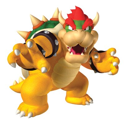 Room Mates Bowser Peel and Stick Giant Wall Decal