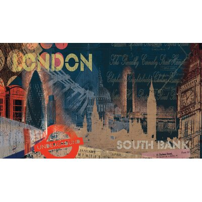Room Mates London Chair Rail Prepasted Wall Mural