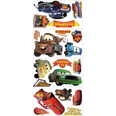 Room Mates Cars Piston Cup Champs Wall Decals