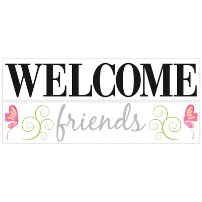 Room Mates Welcome Friends Wall Decal