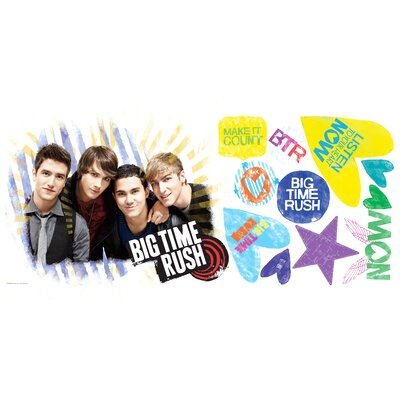 Room Mates Big Time Rush Peel &and Stick Giant Wall Decal