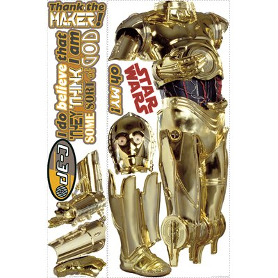 Room Mates Star Wars Classic C3PO Giant Wall Decal