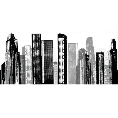 Room Mates Cityscape Peel and Stick Giant Wall Decal