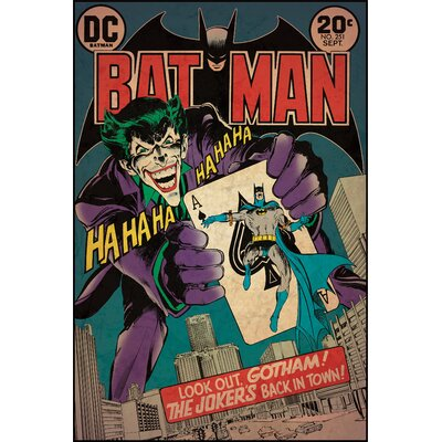 Room Mates Batman Joker Issue Comic Book Cover Wall Decal