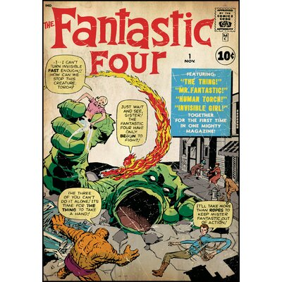 Room Mates Fantastic Four Peel and Stick Comic Cover Wall Decal