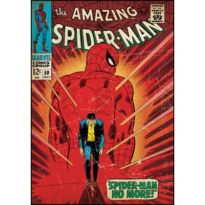 Room Mates Spiderman Walking Away Comic Book Cover Wall Decal