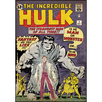 Room Mates Hulk No. 1 Peel and Stick Comic Book Cover Wall Decal