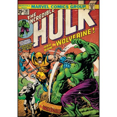 Room Mates Hulk with Wolverine Comic Book Cover Wall Decal