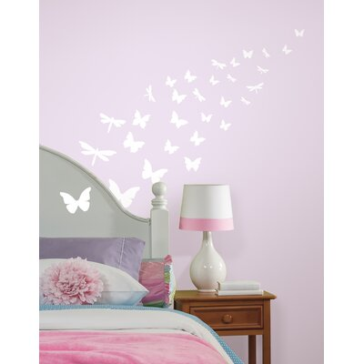 Room Mates Butterfly and Dragonfly Glow in the Dark Wall Decals