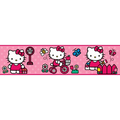 Room Mates Hello Kitty - The World of Hello Kitty Peel and Stick Border