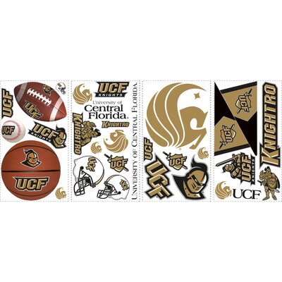 Room Mates 28-Piece University of Central Florida Peel and Stick Wall Decal