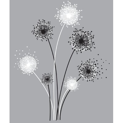 Room Mates Graphic Dandelion Peel and Stick Giant Wall Decal