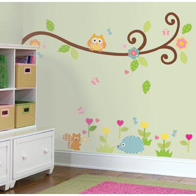 Room Mates Happi Scroll Branch Peel and Stick Wall Decals