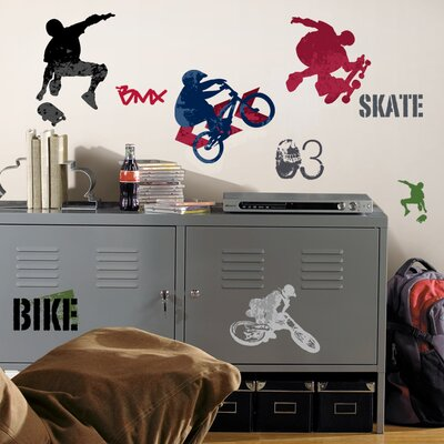 Room Mates Extreme Sports (NEW) Peel and Stick Wall Decals