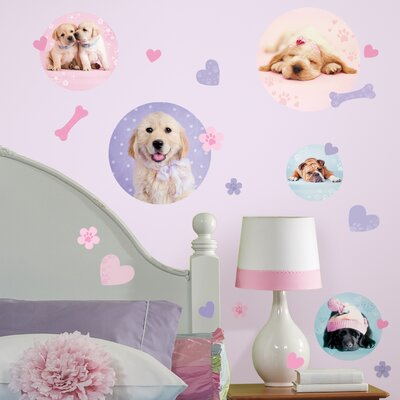 Room Mates 37-Piece Puppy Spots Peel and Stick Wall Decal