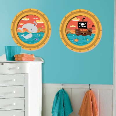 Room Mates High Seas Peel and Stick Window Wall Decals