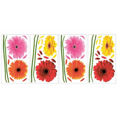 Room Mates Gerber Daisies Wall Decal
