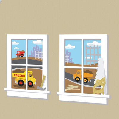 Room Mates Construction Junction Peel and Stick Window Wall Decal