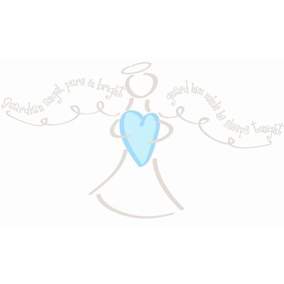 Guardian Angel Boy Giant Wall Decal