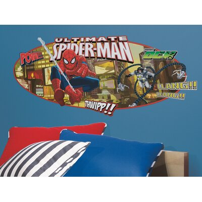 Room Mates Spiderman Ultimate Spiderman Headboard Peel and Stick Giant Wall Decal
