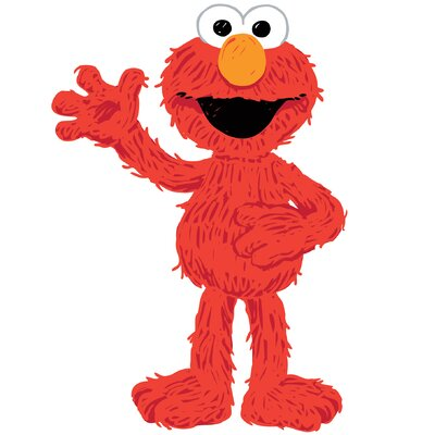 Room Mates Sesame Street Elmo Loves You Peel and Stick Giant Wall Decals