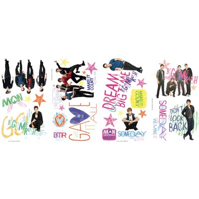 Room Mates Big Time Rush Peel and Stick Wall Decals
