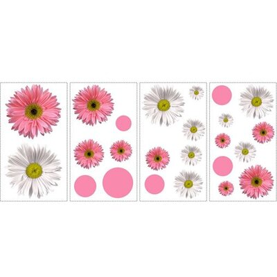 Room Mates Flower Power Peel and Stick Wall Sticker