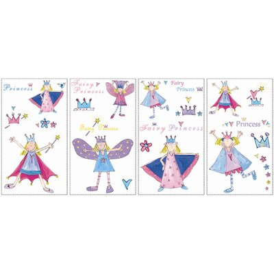 Room Mates Studio Designs 23 Piece Fairy Princess Wall Decal Set
